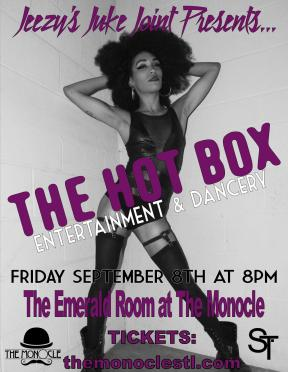 Friday 9/8 The Monocle // 8pm